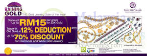 Featured image for Emas Sri Pinang Gold Jewellery Sale of the Year 14 Jun – 31 Jul 2014