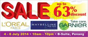 Featured image for OnlyBeauty L'Oreal Mega SALE @ Penang 4 – 6 Jul 2014