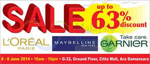 Featured image for OnlyBeauty L'Oreal Mega SALE @ Citta Mall 6 – 8 Jun 2014