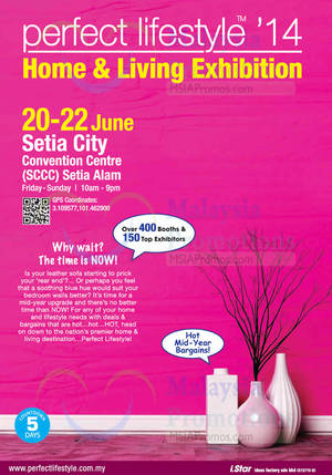 Featured image for Perfect Lifestyle Home & Lifestyle Exhibition @ Setia City 20 – 22 Jun 2014