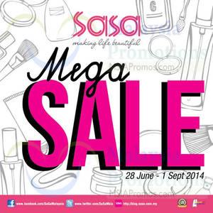 Featured image for Sasa Mega Sale 28 Jun – 1 Sep 2014