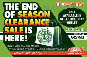 Featured image for Tropicana Life End of Season SALE @ KL Festival City 20 – 22 Jun 2014