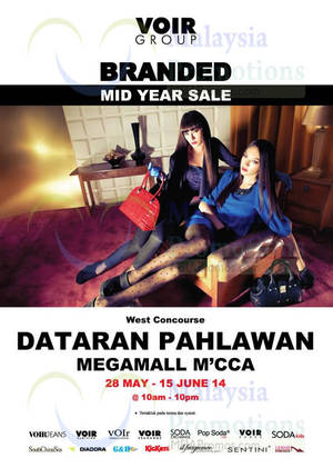 Featured image for Voir Mid Year SALE @ Dataran Pahlawan Malacca Megamall 28 May – 15 Jun 2014
