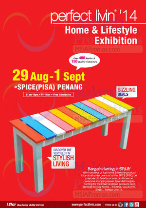 Featured image for Perfect Livin' Home & Lifestyle Exhibition @ sPICE (PISA) Penang 29 Aug – 1 Sep 2014