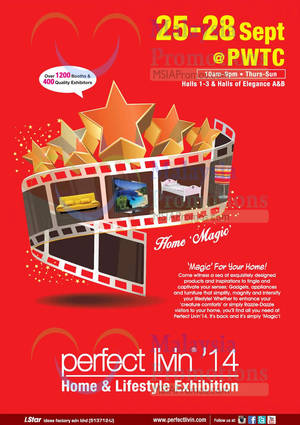 Featured image for Perfect Livin' Home & Lifestyle Exhibition @ PWTC KL 25 – 28 Sep 2014
