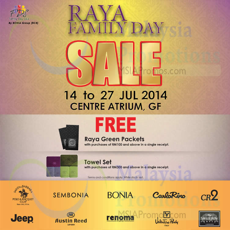 Bonia Family Day Sale Kl Sogo 14 27 Jul 2014