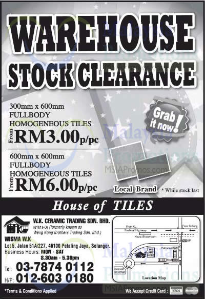 W.K. Ceramic Trading Tiles Clearance @ Petaling Jaya 18 Jul 2014