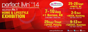 Featured image for Perfect Livin' Home & Lifestyle Exhibition @ BCCK Kuching 2 – 5 Oct 2014
