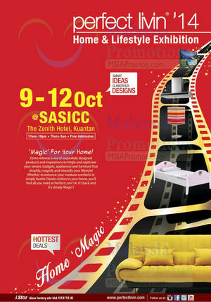 Featured image for Perfect Livin' Home & Lifestyle Exhibition @ SASICC Kuantan 9 – 12 Oct 2014