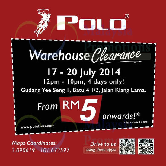 Featured image for Polo Haus Warehouse Clearance 17 - 20 Jul 2014