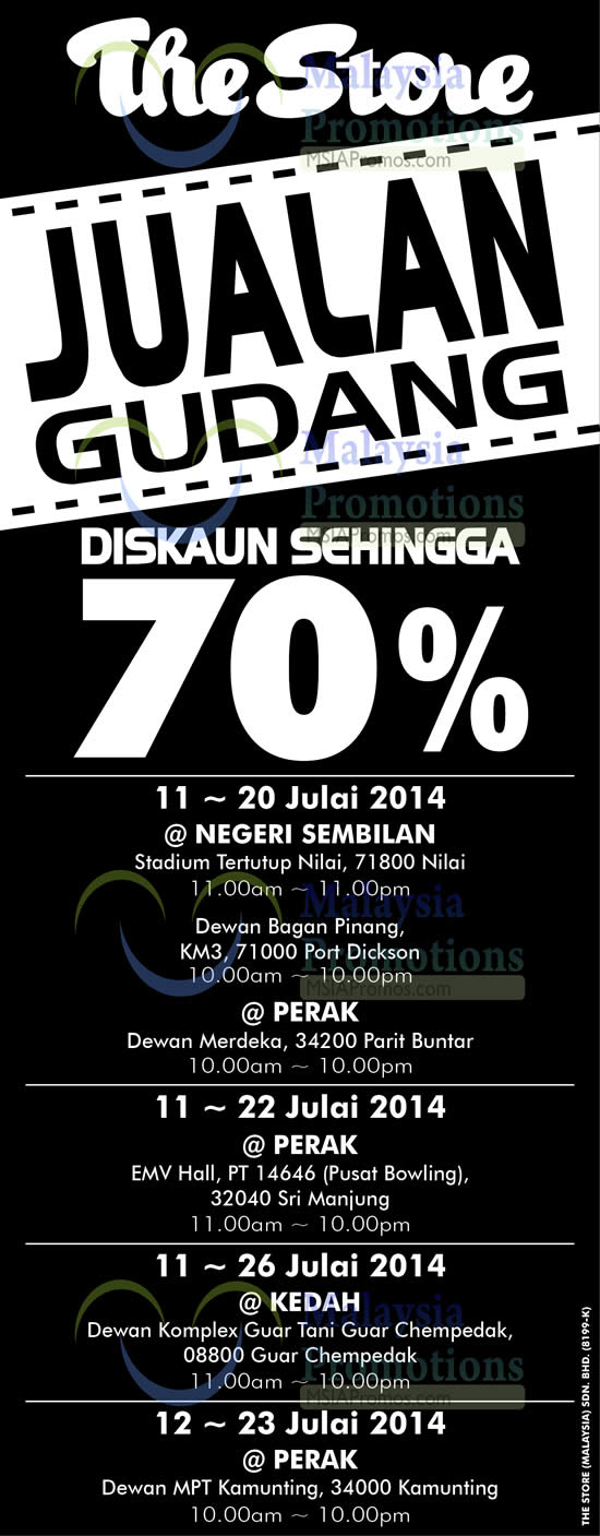 Featured image for The Store Branded Warehouse SALE @ Parit Buntar Perak 11 - 20 Jul 2014