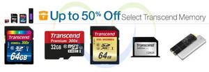 Featured image for Transcend Up To 50% OFF USB Drives, Memory Cards, SSDs & More 24hr Promo 31 Jul – 1 Aug 2014