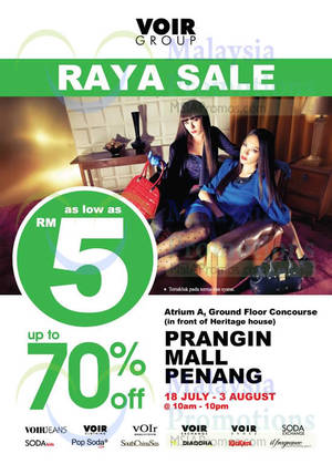 Featured image for Voir Raya SALE @ Prangin Mall Penang 18 Jul – 3 Aug 2014