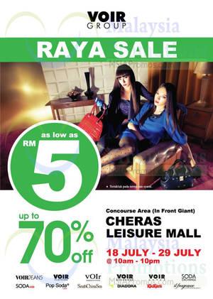 Featured image for Voir Raya SALE @ Cheras Leisure Mall 18 – 29 Jul 2014