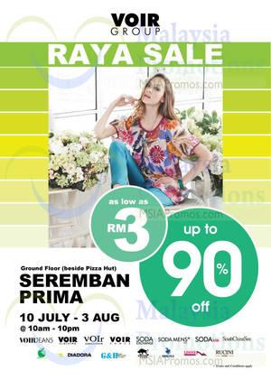 Featured image for Voir Raya SALE @ Seremban Prima 10 Jul – 3 Aug 2014