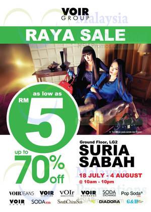 Featured image for Voir Raya SALE @ Suria Sabah 18 Jul – 4 Aug 2014