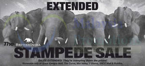 Featured image for British India Stampede SALE(Extended) 29 Aug – 16 Sep 2014