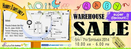 Baby Warehouse Sale 26 Aug 2014