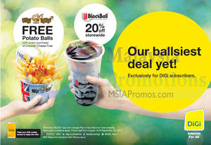 Featured image for Crazy Potato & Blackball Promotion For Digi Subscribers 15 Aug – 30 Sep 2014