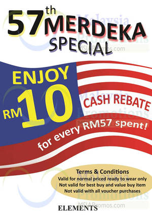 Featured image for Elements Spend RM57 & Get RM10 Off 25 Aug – 1 Sep 2014