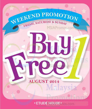 Featured image for Etude House Buy 1 Get 1 FREE Promo (Fri – Sun) 1 – 31 Aug 2014