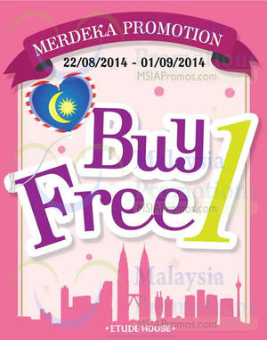 Featured image for Etude House Buy 1 Get 1 FREE Promo 22 Aug – 1 Sep 2014