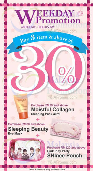 Featured image for Etude House Buy 3 & Get 30% OFF (Mon – Thur) 6 – 28 Aug 2014