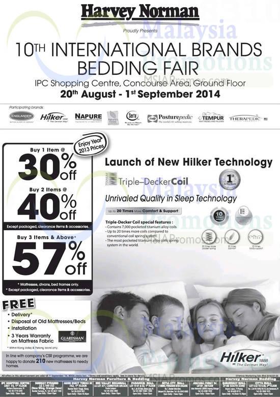 Harvey Norman Bedding Fair 22 Aug 2014