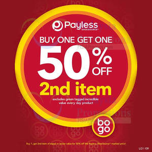 Featured image for Payless Shoesource 50% OFF 2nd Item Promo 13 – 26 Aug 2014