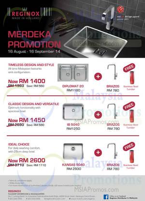 Featured image for Reginox Merdeka Promotion 16 Aug – 16 Sep 2014