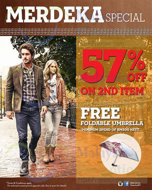 Featured image for Timberland 57% Off 2nd Item Promo 26 Aug – 7 Sep 2014