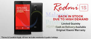 Featured image for Xiaomi Redmi 1S Back In Stock 31 Aug 2014