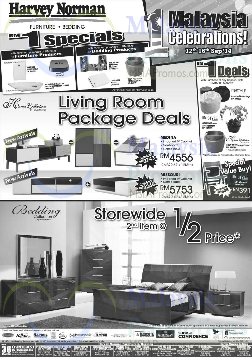 Furniture Living Room Package Deals Rm1 Deals Harvey Norman Digital Cameras Furniture