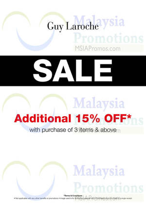 Featured image for Guy Laroche Special Sale @ Johor Premium Outlets 15% OFF 30 Sep – 31 Dec 2014
