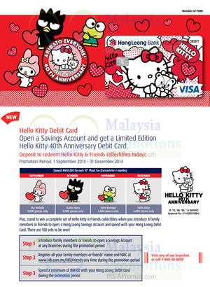 Featured image for Hong Leong Bank Hello Kitty Debit Card 30 Sep – 31 Dec 2014