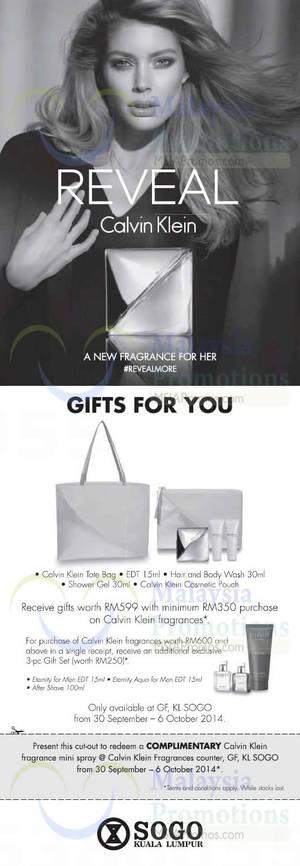 Featured image for KL Sogo Calvin Klein Fragrance Promotion 30 Sep – 6 Oct 2014
