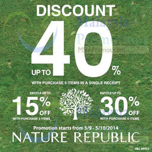 Featured image for Nature Republic SALE 5 – 10 Sep 2014