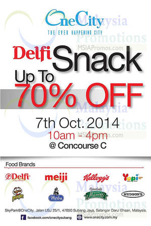 Featured image for Delfi Snack Up To 70% Off @ One City 7 Oct 2014