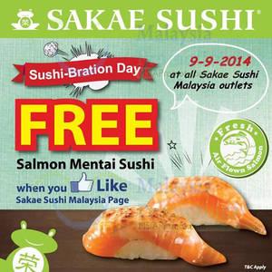 Featured image for Sakae Sushi FREE Salmon Mentai Sushi Giveaway 9 Sep 2014