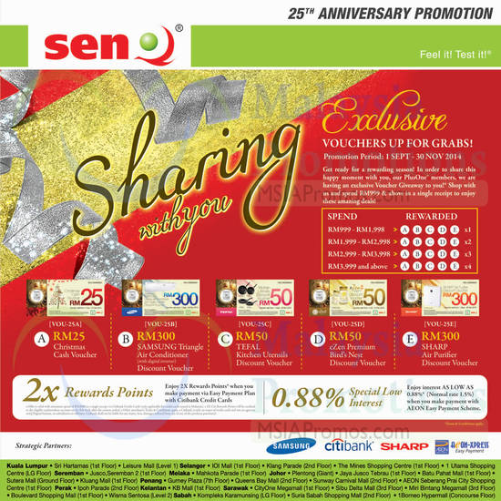 Featured image for SenQ Notebooks, Digital Cameras, Home Appliances, TVs & Phones Offers 1 - 30 Sep 2014