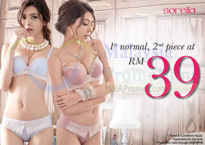 Featured image for Sorella RM39 Second Bra Promotion 9 – 30 Sep 2014