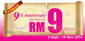 Featured image for Vern's RM9 Second Item Promo 2 Sep – 14 Nov 2014