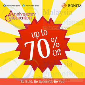 Featured image for Bonita Up To 70% OFF Anniversary Sale 15 – 26 Oct 2014