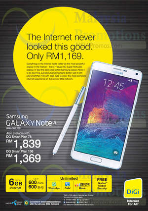Featured image for Digi Samsung Galaxy Note 4 Offer 17 Oct 2014