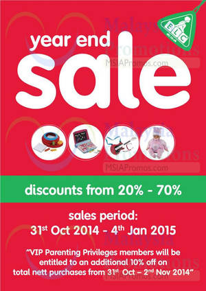Featured image for Early Learning Centre SALE 31 Oct 2014 – 4 Jan 2015