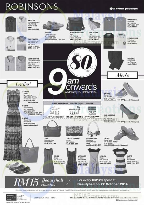 Fashion Clothing, Men Shirts, Men Polo Tees, Dresses, Bags, John Curtis, Renoma, Tocco Tenero, Bedazzling, Tite