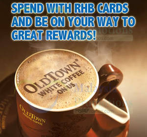 Featured image for Oldtown White Coffee Spend RM30 & Get FREE Coffee For RHB Cardmembers 15 Oct 2014 – 28 Feb 2015