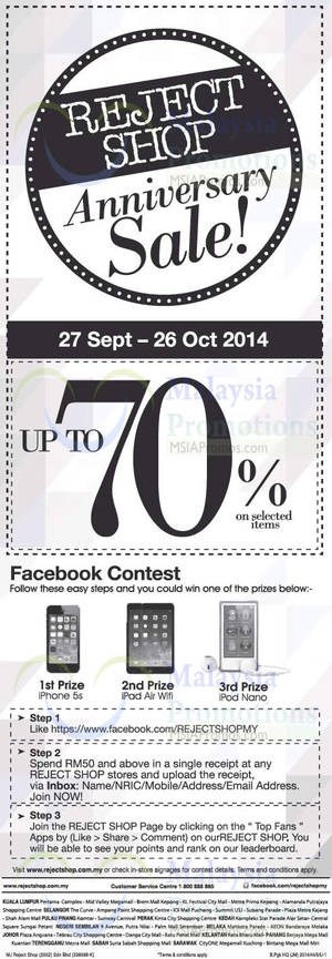Featured image for Reject Shop Merdeka Sale 27 Sep – 26 Oct 2014
