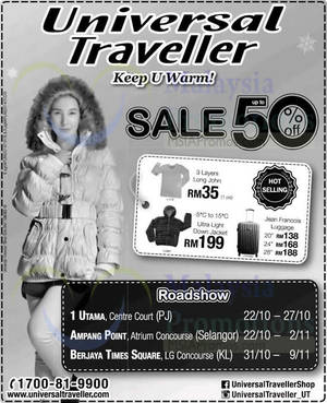 Featured image for Universal Traveller Roadshow @ Ampang Point 22 Oct – 2 Nov 2014