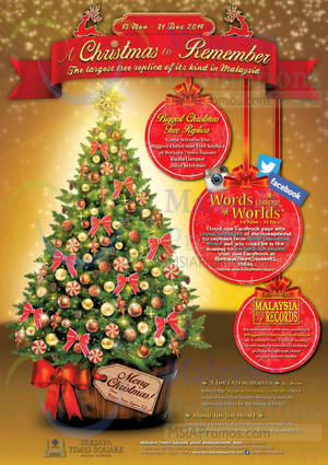 Featured image for Berjaya Times Square Christmas Promotions & Activities 15 Nov – 31 Dec 2014